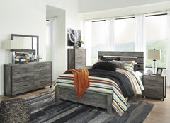 Cazenfeld Black and Gray Queen Panel Bed Set