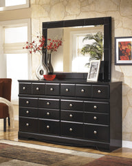 Shay Almost Black Dresser with Mirror - Ashley shop at  Regency Furniture
