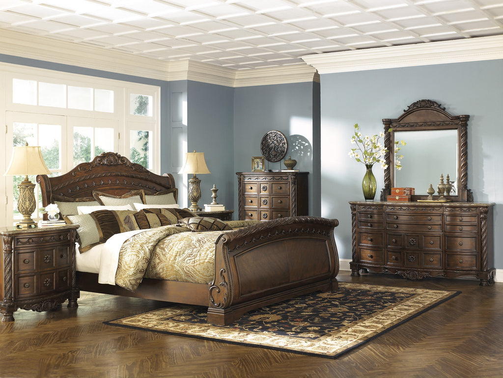 Stupendous North Shore Dark Brown King Sleigh Bedroom Set Home Interior And Landscaping Ologienasavecom