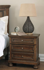Flynnter Medium Brown Two Drawer Night Stand - Ashley shop at  Regency Furniture