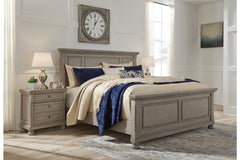 Lettner King Panel Bed w/ Dresser Mirror & Nightstand
