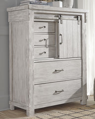 Brashland White Drawer/Door Chest