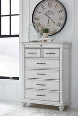 Kanwyn Vintage Casual Five Drawer Chest