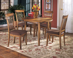 Berringer Rustic Brown Round Drop Leaf Table set - Ashley shop at  Regency Furniture