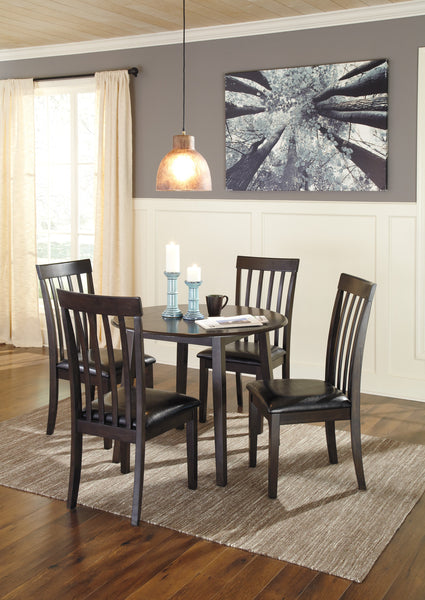 Hammis Dark Brown Round Drop Leaf Table and Chairs - Ashley shop at  Regency Furniture