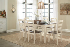 Woodanville Table and 6 Chairs
