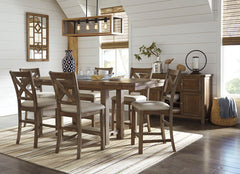 Moriville Table & 4 Bar stools