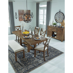 Moriville Table 4 Side Chairs & Bench