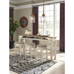 Raelyn Counter Table & 3 Swivel Bar Stools