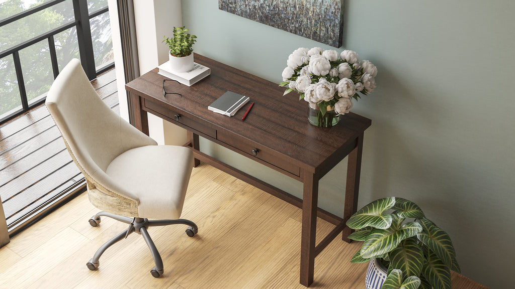 Image of: Camiburg Warm Brown Home Office Desk Regency Furniture