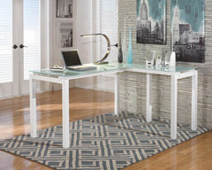 Baraga - White - L-Desk