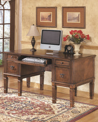 Hamlyn wood, brown Storage Leg Desk