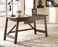 Baldridge Rustic Brown Home Office Large Leg Desk