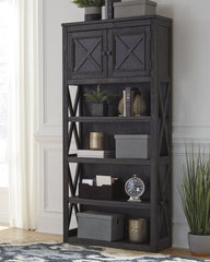 Tyler Creek Grayish Brown Large Bookcase