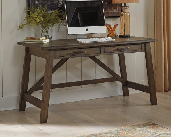 Johurst Brown Home Office Large Leg Desk
