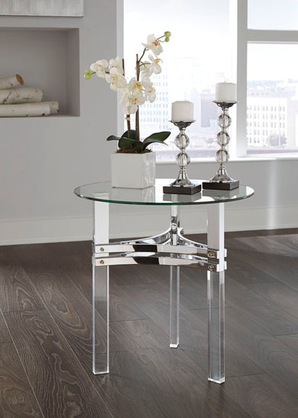 Braddoni-Chrome  Rouns End Table