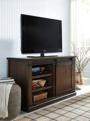Budmore Rustic Brown Medium Tv Stand - Ashley shop at  Regency Furniture