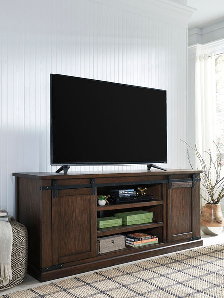 Budmore Rustic Brown Extra Large Tv Stand - Ashley shop at  Regency Furniture