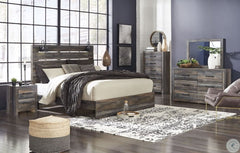 Drystan Multi King Bed w/ Dresser Mirror & Nightstand