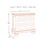Flynnter Two Drawer Night Stand