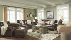 Roleson Walnut Sofa Loveseat & Chair A Half