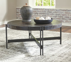 Jillenhurst - Dark Brown - Round Cocktail Table