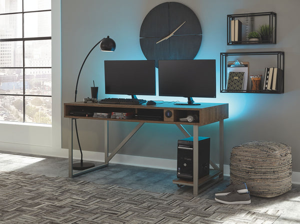 Barolli - Gunmetal - Gaming Desk