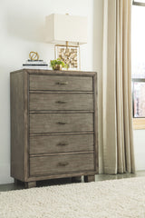 Arnett - Gray - Five Drawer Chest