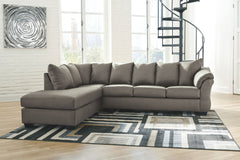 Darcy Cobblestone LAF Corner Chaise & RAF Sofa Sectional