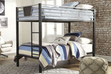 Dinsmore - Black/Gray - Twin/Twin Bunk Bed w/Ladder