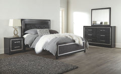 Kaydell - Black - Two Drawer Night Stand