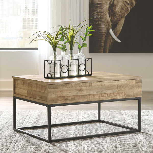 Gerdanet - Natural - Lift Top Cocktail Table