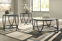 Tarrin - Black - Occasional Table Set (3/CN)