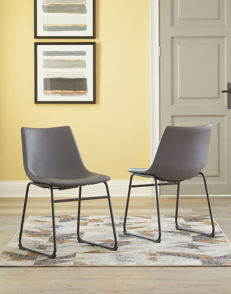 Centiar Gray Dining UPH Side Chair