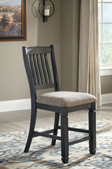 Tyler Creek - Black/Grayish Brown - Upholstered Barstool
