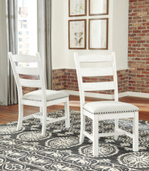 Valebeck - Beige/White - Dining UPH Side Chair