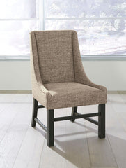 Sommerford - Black/Brown - Dining UPH Arm Chair (2/CN)