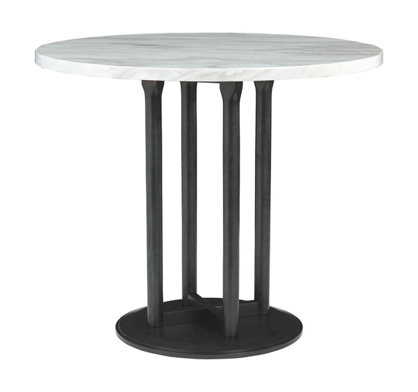 Centiar Two-tone Round DRM Counter Table