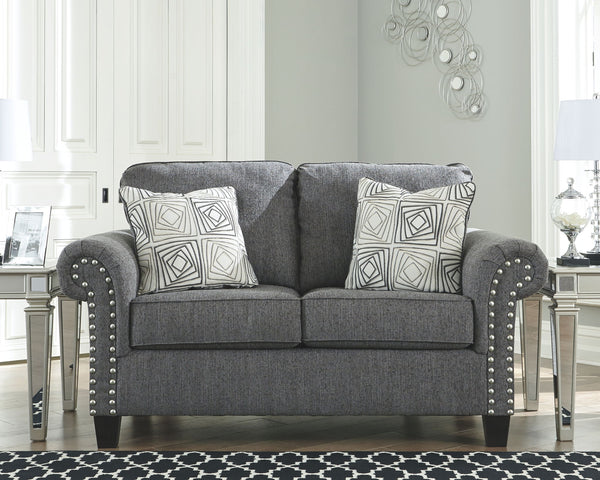 Agleno - Charcoal - Loveseat