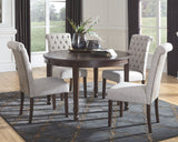 Adinton Table & 4 Uph Side Chairs