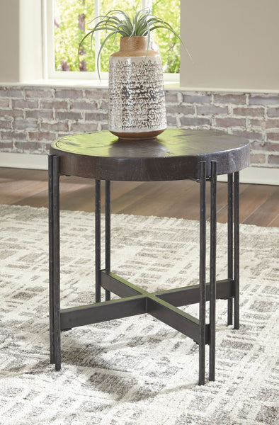 Jillenhurst - Dark Brown - Round End Table