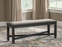 Tyler Creek - Black/Grayish Brown - Upholstered Bench