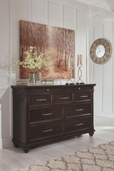 Brynhurst Dark Brown Dresser only