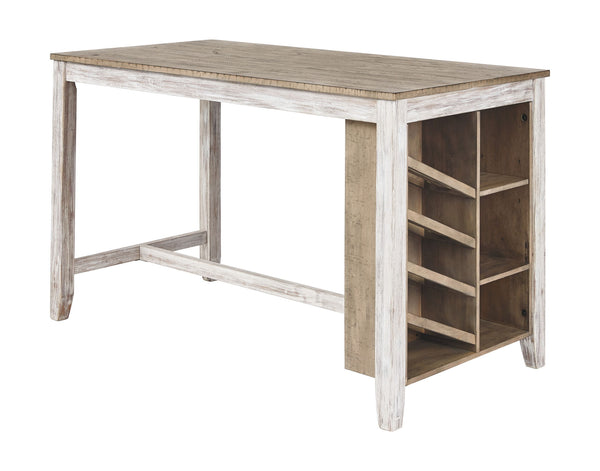 Skempton - White/Light Brown - RECT Counter Table w/Storage