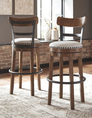 Valebeck - Brown - Tall UPH Swivel Barstool