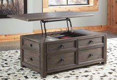 Wyndahl - Rustic Brown - Rect Lift Top Cocktail Table