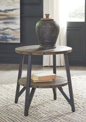 Haffenburg - Medium Brown - Round End Table