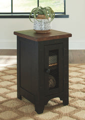 Valebeck - Black/Brown - Chair Side End Table