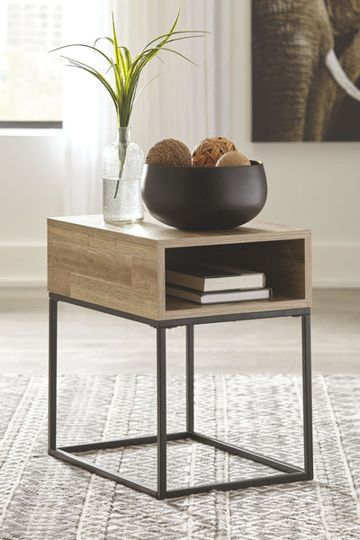 Gerdanet - Natural - Rectangular End Table