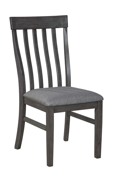 Luvoni - Dark Charcoal Gray - Dining UPH Side Chair